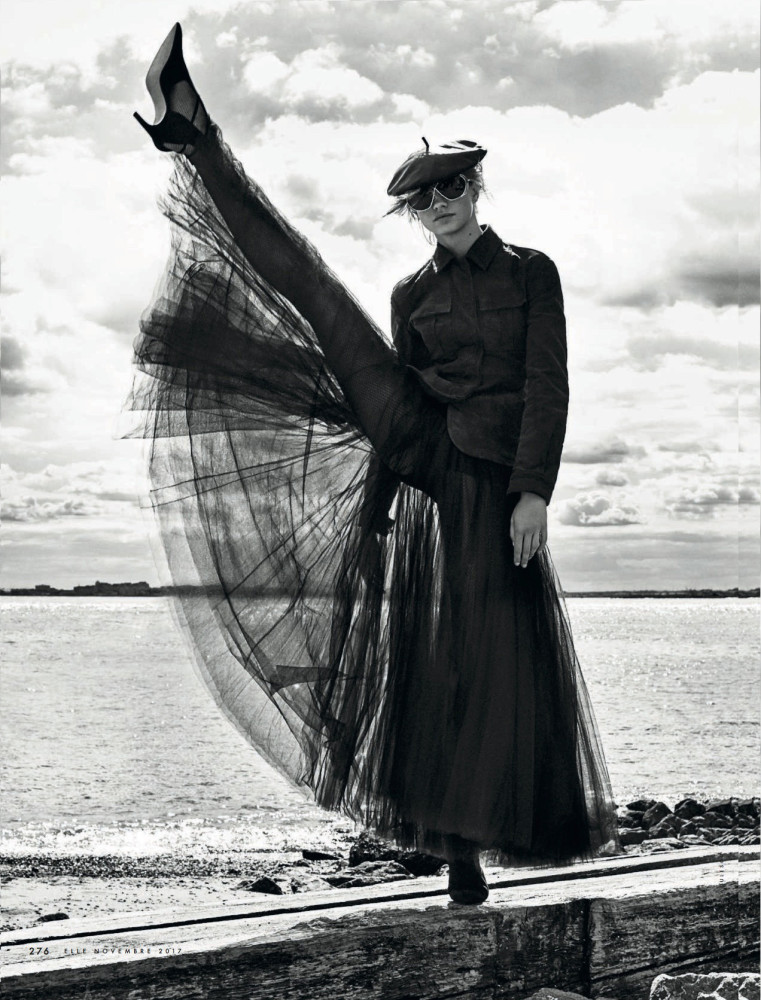 Dasha Khlystun - by Enrique Badulescu for ELLE Magazine