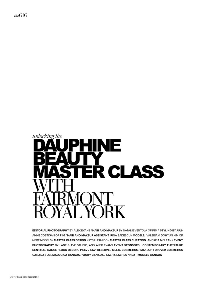 Dauphine Fall 2017 Behind The Masterclass