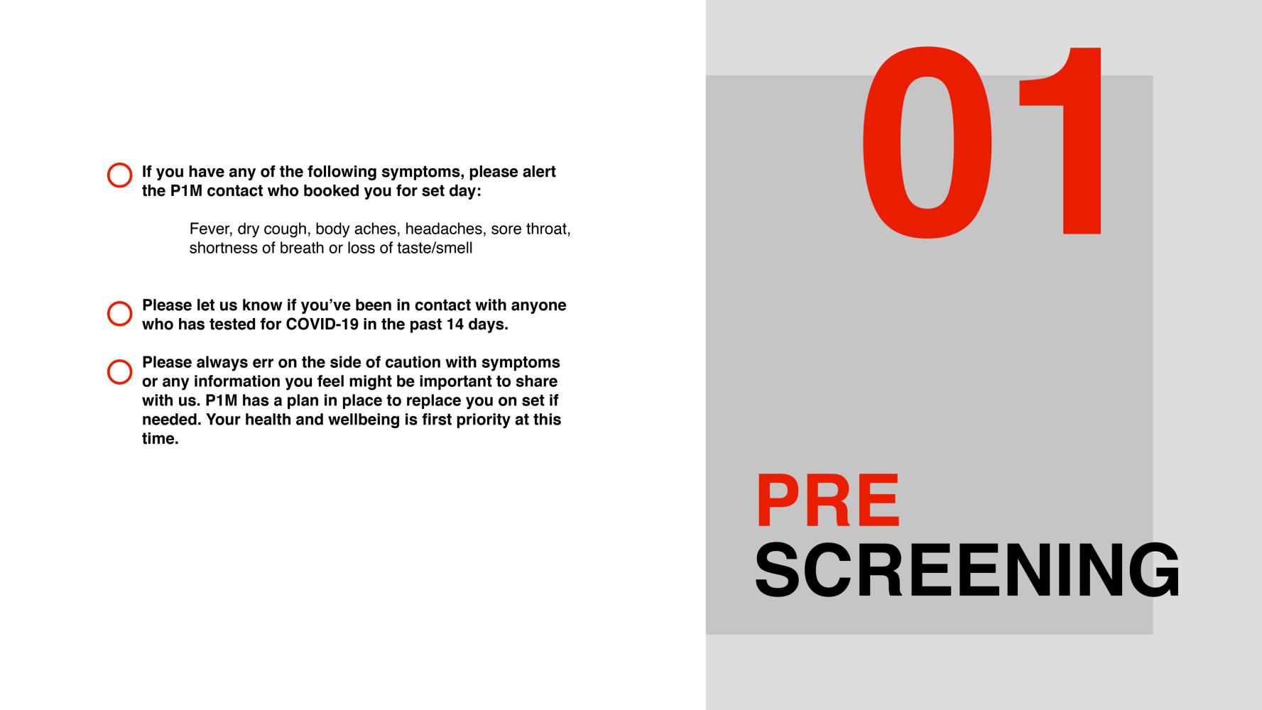 "P1M SOS ""Safe on Set"" PROTOCOL"