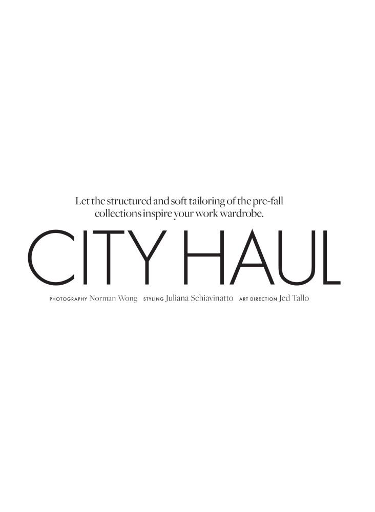 CITY HAUL   ELLE CANADA