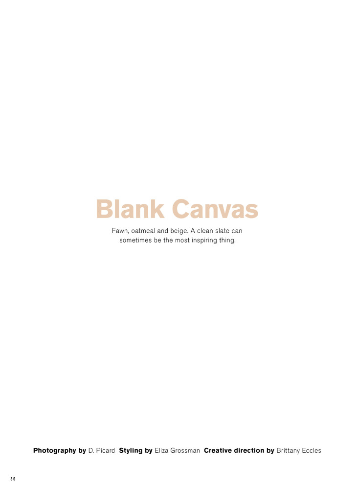 FASHION MAGAZINE | BLANK CANVAS