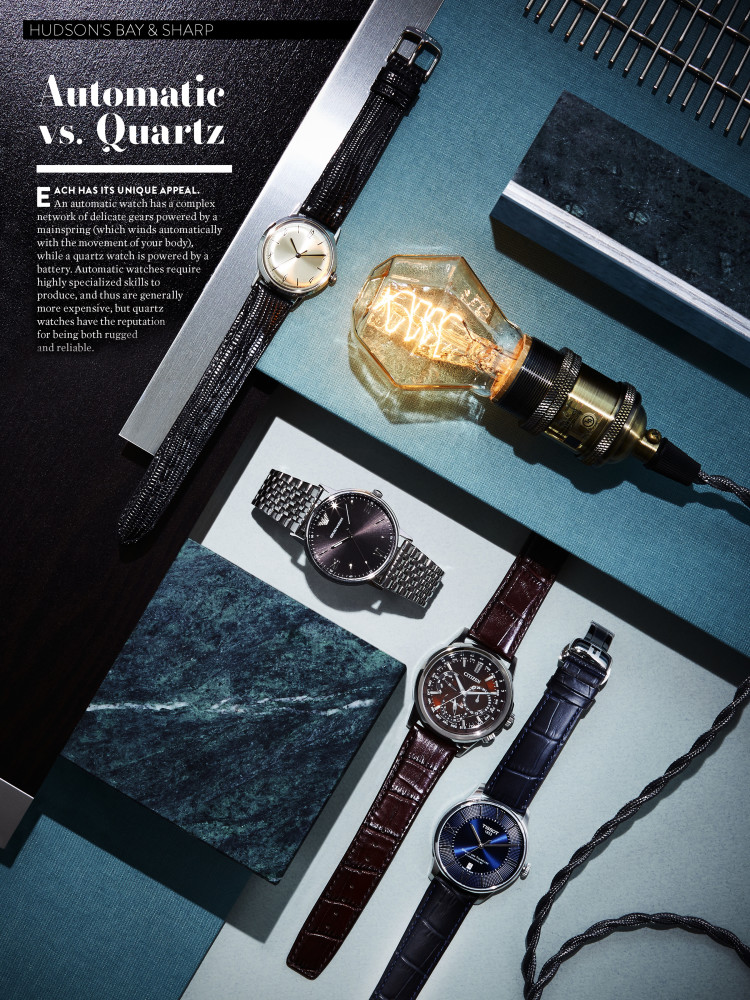 AUTOMATIC VS. QUARTZ | HBC & SHARP MAGAZINE