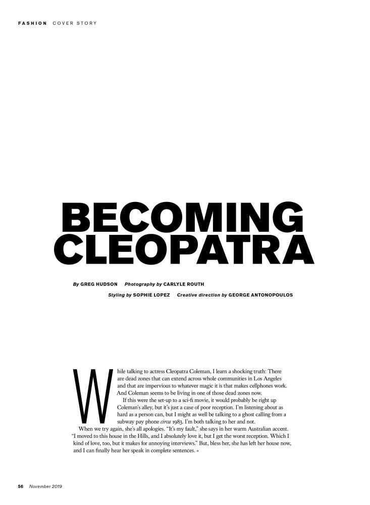 BECOMING CLEOPATRA | FASHION MAGAZINE