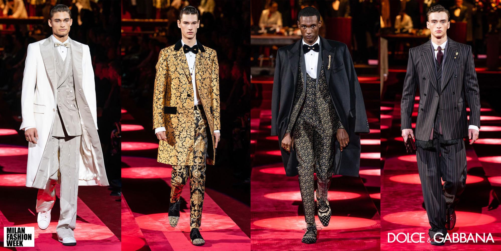 Dolce & Gabbana Menswear F/W'19 Runway Collection in Milan