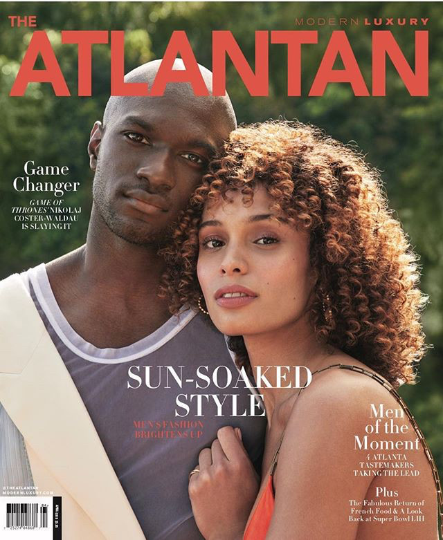 Loic Mabanza takes both Covers of Modern Luxury Magazine by Olivia Graham