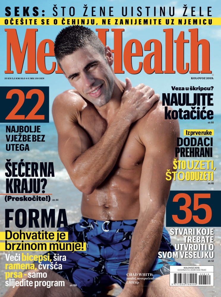 Chad White takes the Cover! Men's Health Magazine
