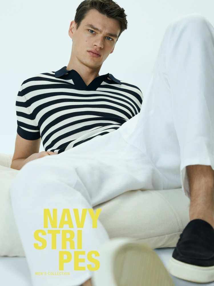Massimo Dutti Navy stripes Collection