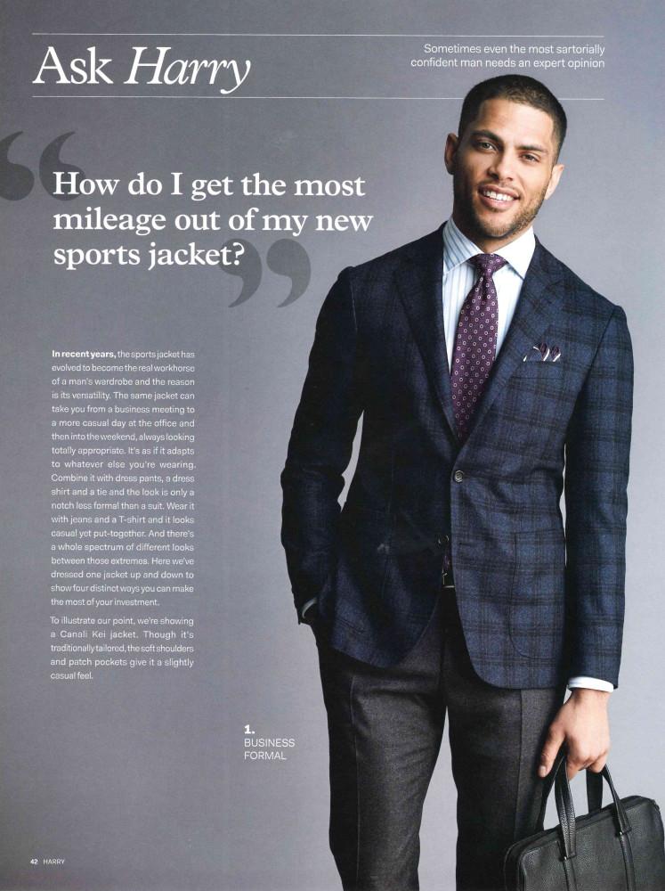 Isha Blaaker for the Harry Rosen Menswear FW19 Campaign by Chris Nicholls