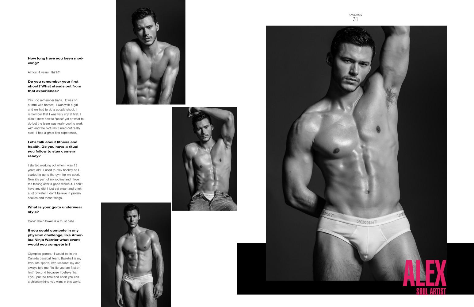 Mr. Alex L'Abbee in the new Man of Metropolis Magazine Body Issue