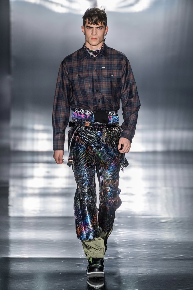 Daan & Dalibor walks for DSquared2 F/W'19 Runway Collection in Milan