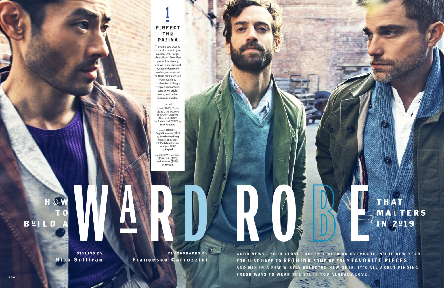 Thom Gwin for Esquire Magazine shot by Francesco Carrozzini