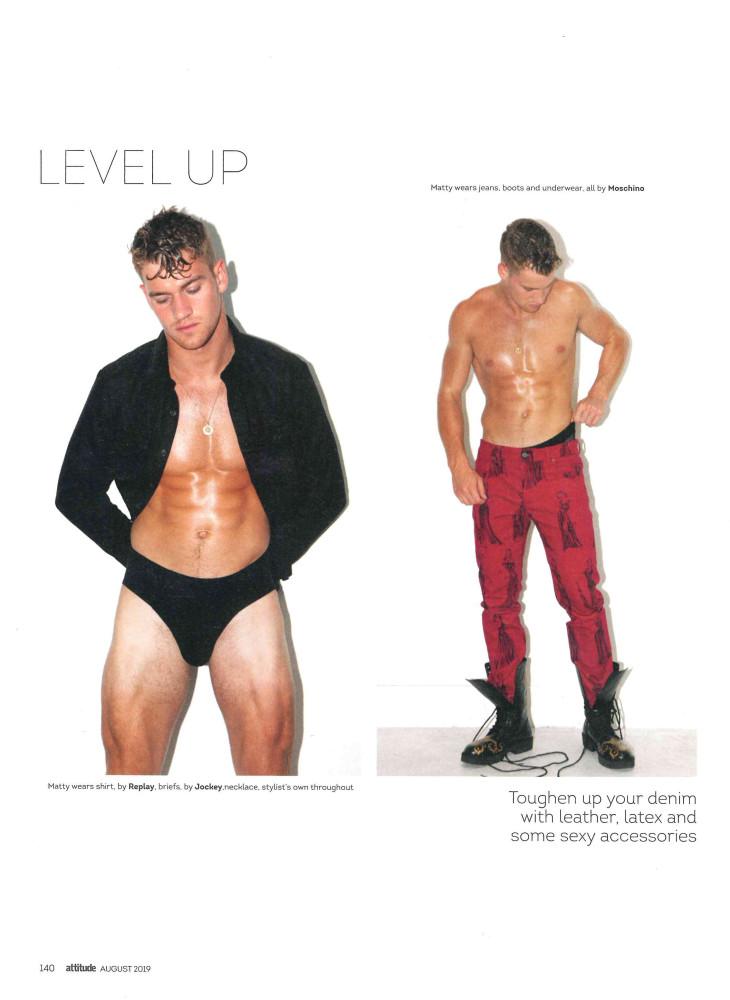 Mr. Matty Carrington in Attitude Magazine by  Darren Black