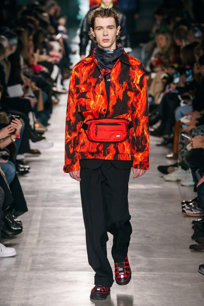 Efraim Schroder walks for MSGM F/W'19 Collection in Milan