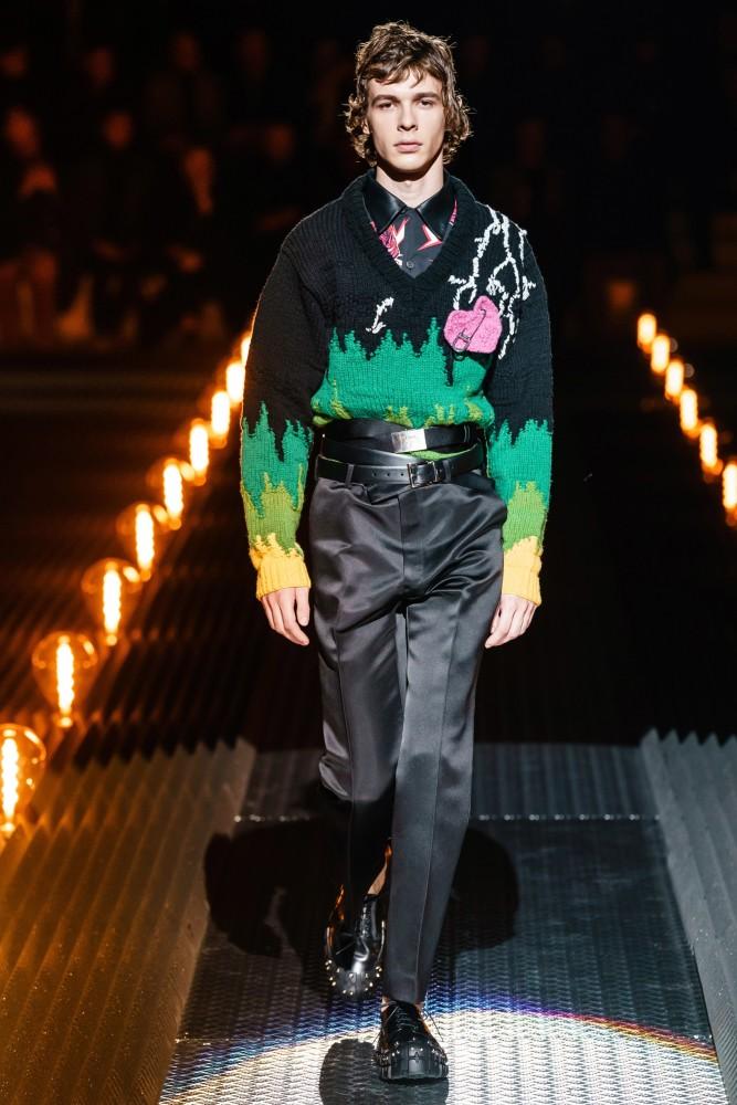 Efraim Schroder walks for Prada Fall/Winter'19 Collection in Milan