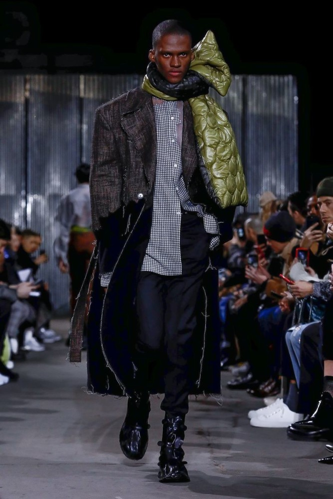 New Face Sethu walks for CMMN SWDN F/W'19 Runway Collection in Paris
