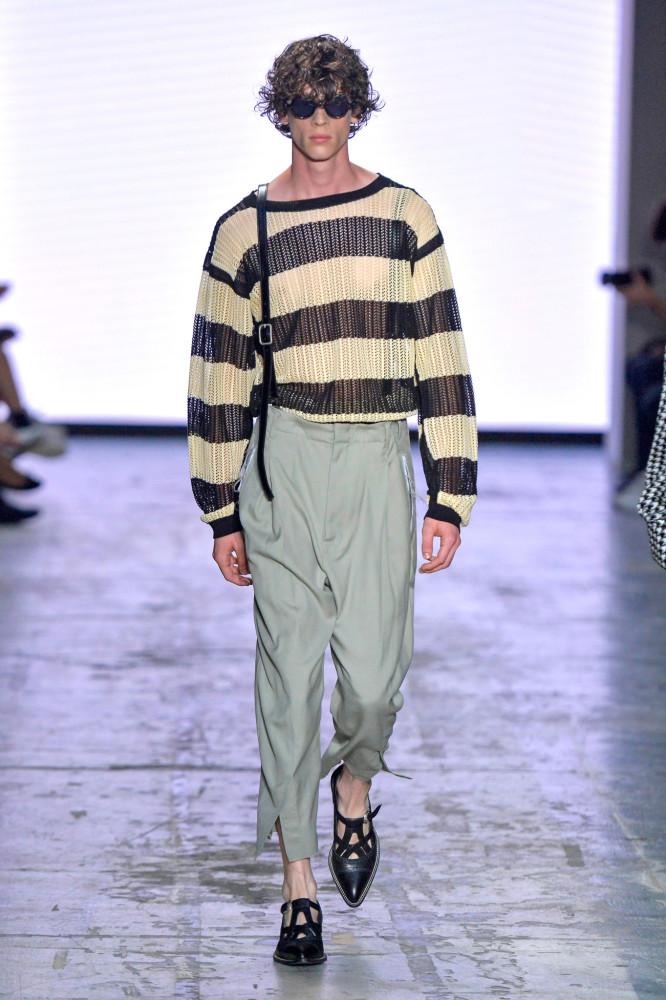 Brayden Lipford walks in Bed J.W. Ford Spring/Summer 2020 Runway Show in Milan