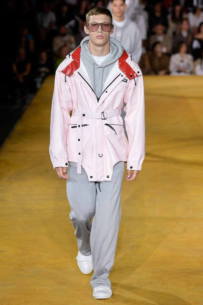 Benji walks in Burberry Spring 2020
