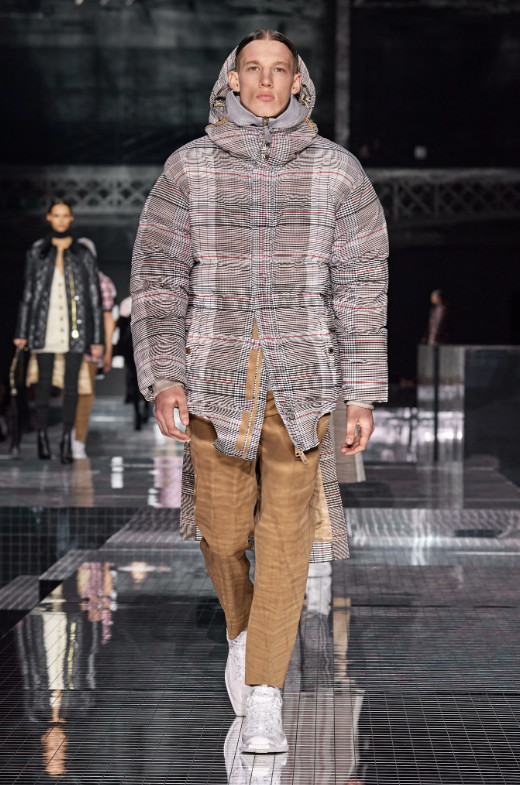 Rising Star Benji walks for Burberry Fall 2020 RTW Runway Show in London
