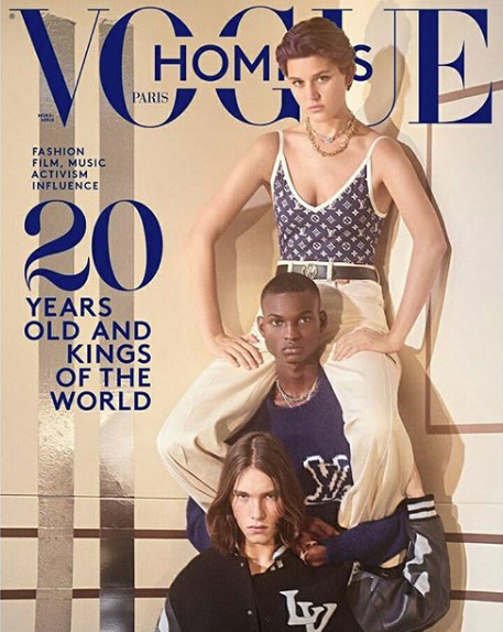 New Rising Star Lawrence Takes The Cover of Vogue Hommes Paris S/S 2020