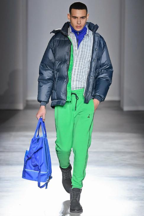 New Face Allen Haygood walks for David Catalan Fall/Winter 2020 Runway in Milan