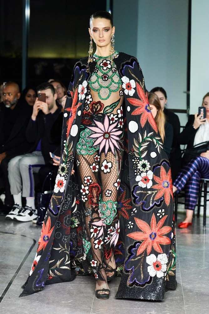 SPOTTED: DANIELA A. FOR NAEEM KHAN FW20 READY-TO-WEAR