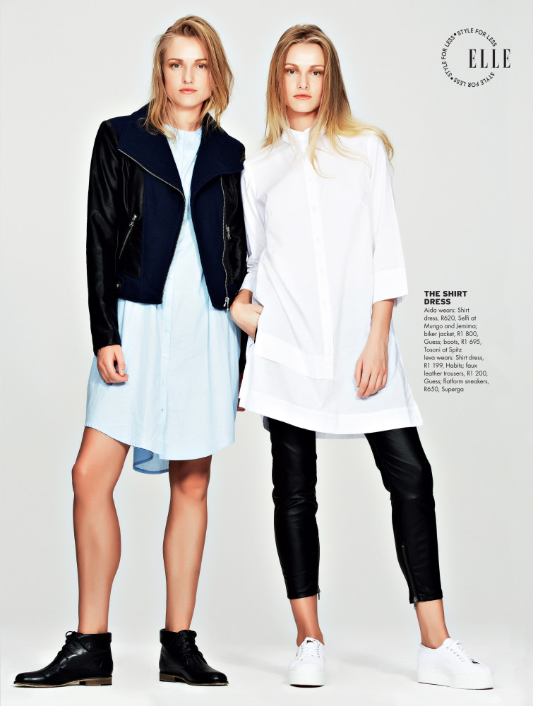SPOTTED: ... NO YOU'RE NOT SEEING DOUBLE // AIDA + IVEA FOR ELLE MAGAZINE