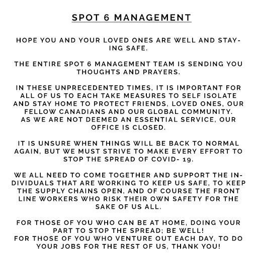 SPOT 6 MANAGEMENT