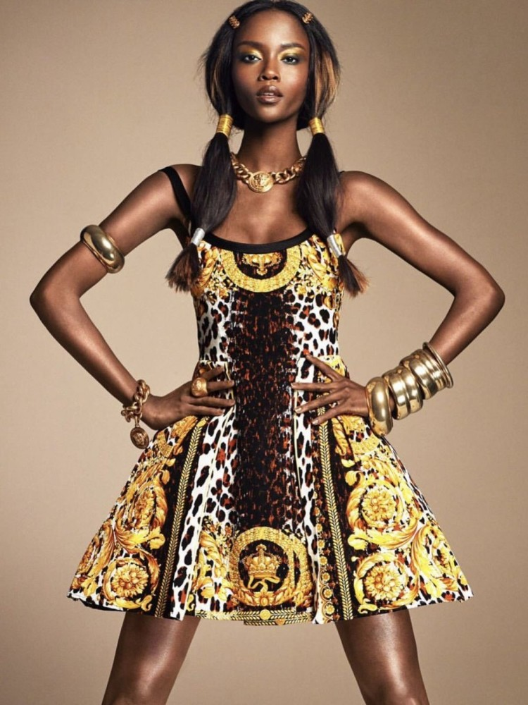SPOTTED: Riley Montana by Greg Kadel in VERSACE