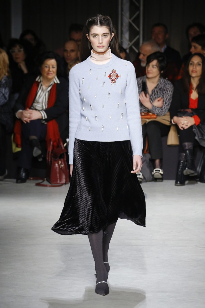 SPOTTED: Emily Reda for Au Jour Le Jour @ MFW