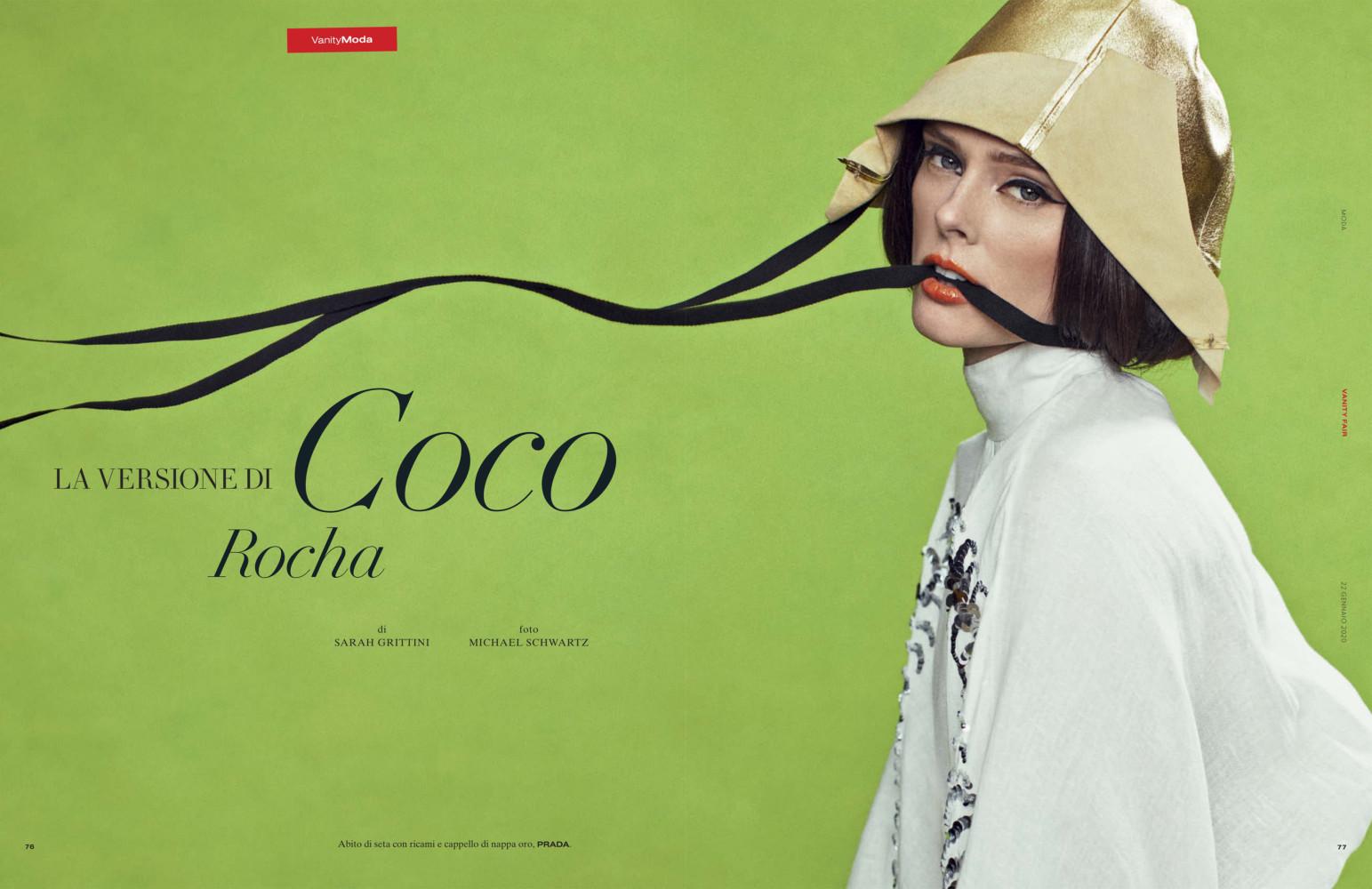 SPOTTED: LA VERSIONE DI COCO ROCHA // COCO ROCHA FOR VANITY FAIR ITALIA