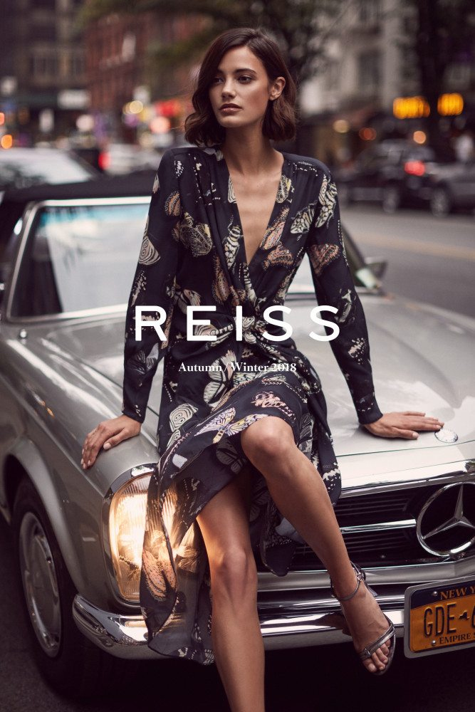 SPOTTED: ANJA IS SOFT AND STRUCTURED FOR REISS FALL CAMPAIGN