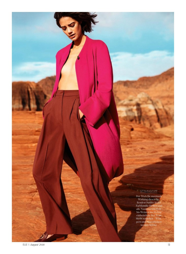 SPOTTED: ANJA FOR GERMAN ELLE BY ENRIQUE BADULESCU