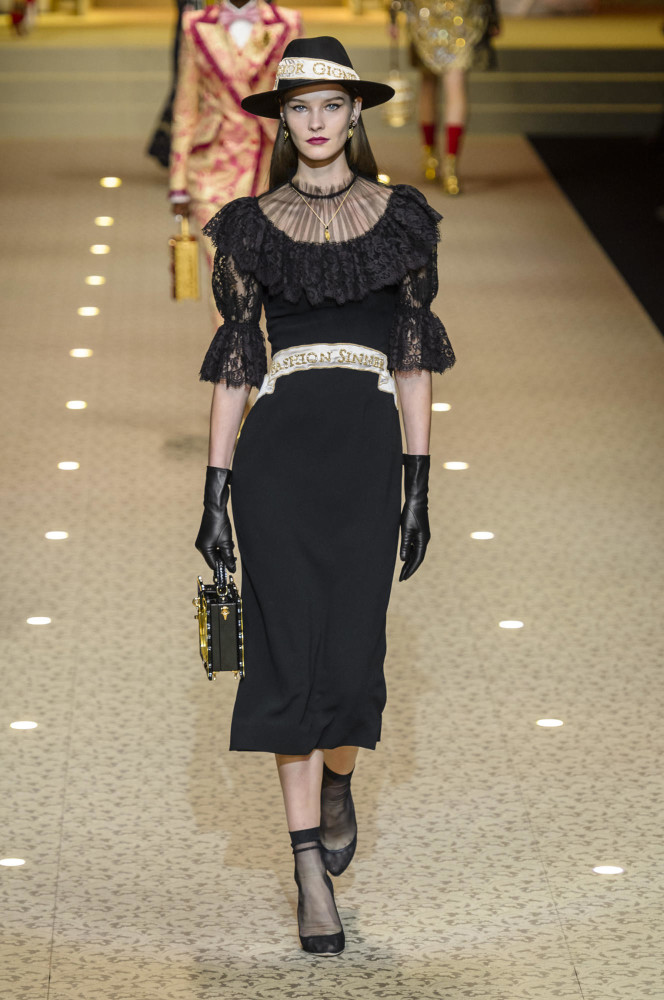 SPOTTED: Magdalena for Dolce & Gabbana @ MFW