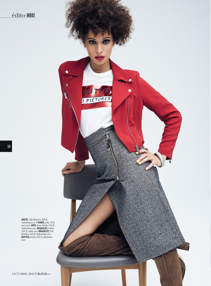 SPOTTED: Bianca Gittens for Clin D'oeil Magazine