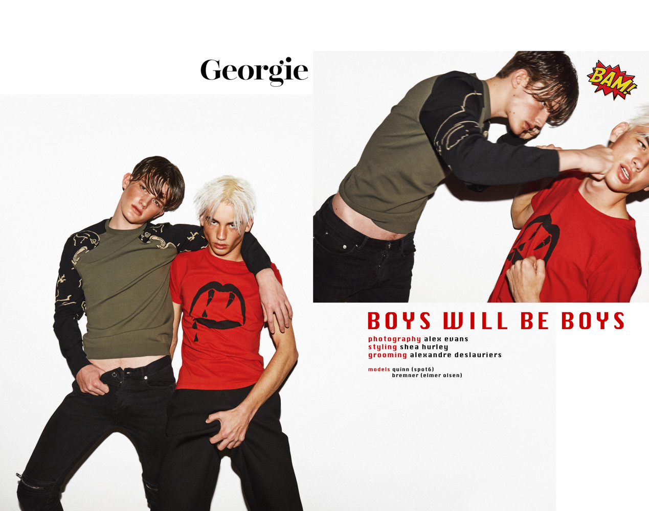 SPOTTED: BOYS WILL BE BOYS // QUINN  FOR GEORGIE MAGAZINE