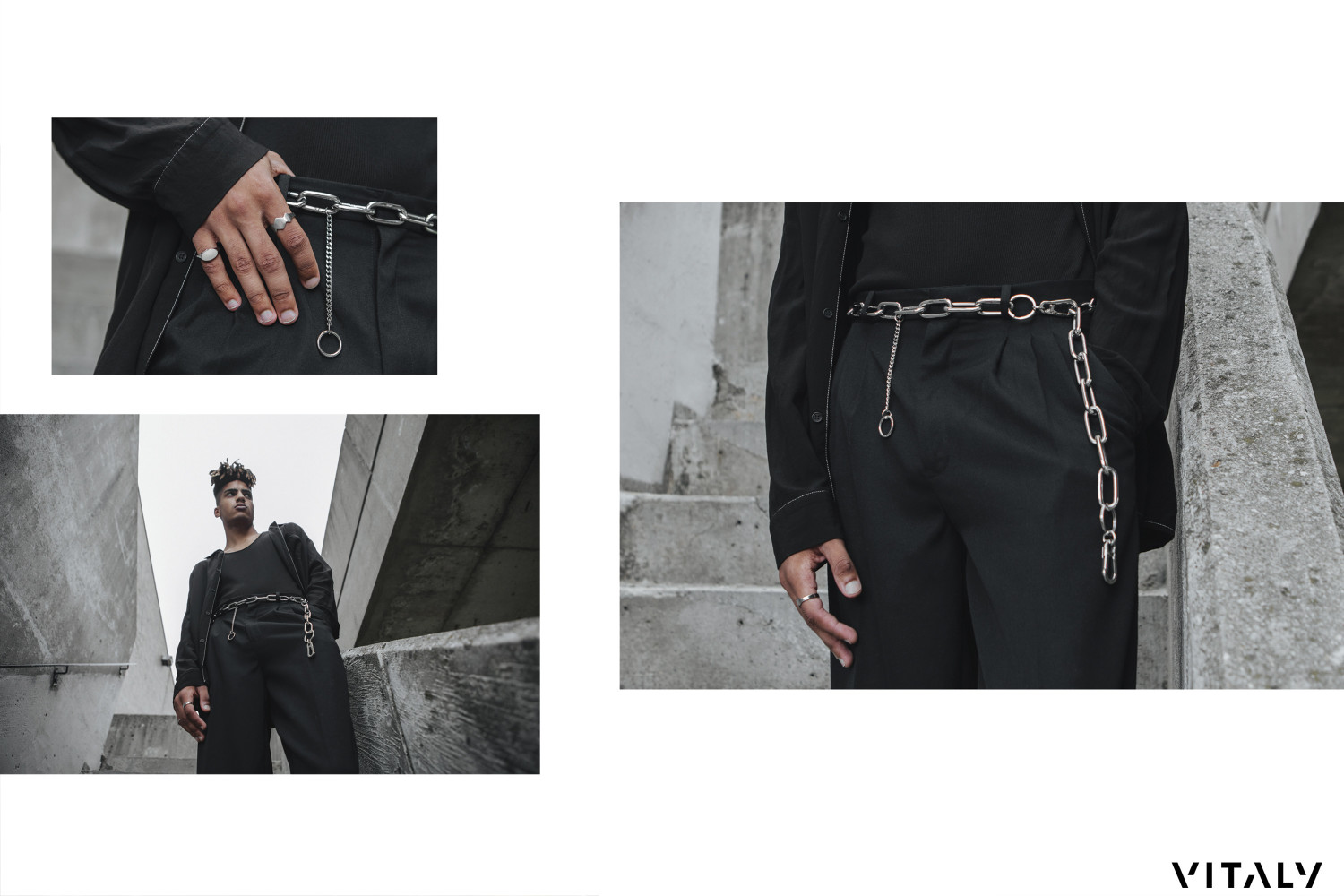 SPOTTED: AUSTIN B IS TRESPASSING FOR VITALY FW18 ACCESSORIES COLLECTION