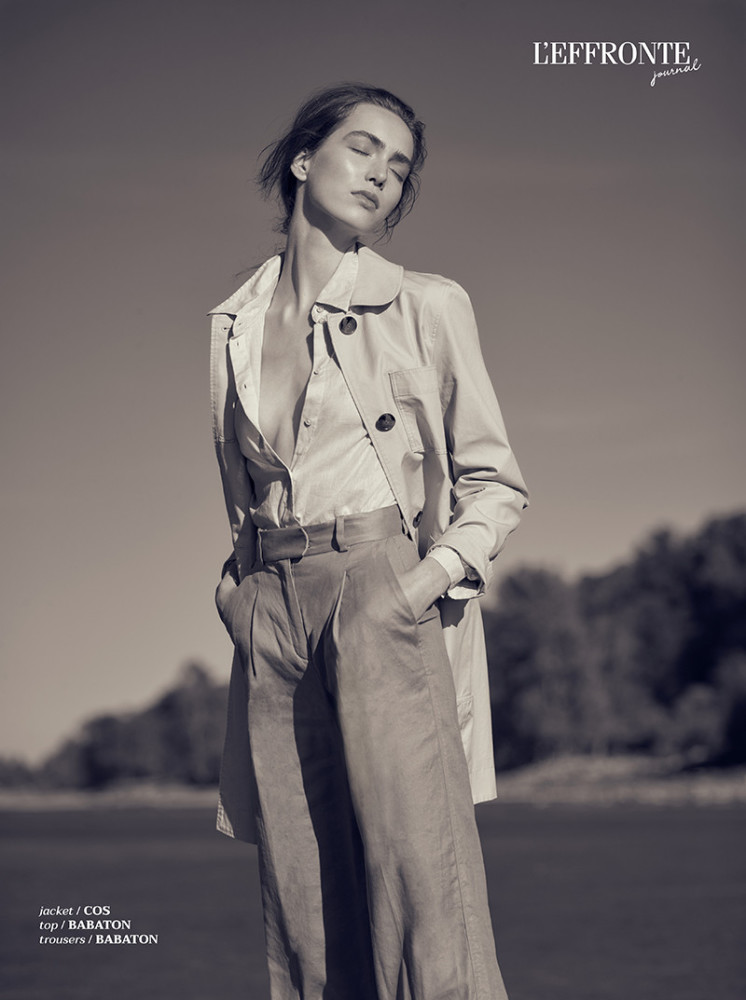SPOTTED: STEPHANIE JACKSON FOR L'EFFRONTE JOURNAL