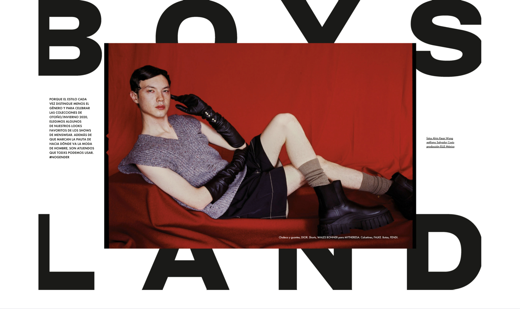 SPOTTED: BOYS LAND // EMILE FOR ELLE MEXICO