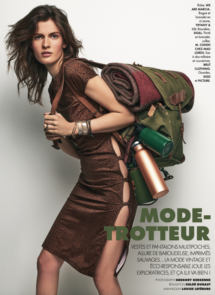 Louise Lefebure - Gregory Derkenne - Elle France - April 21