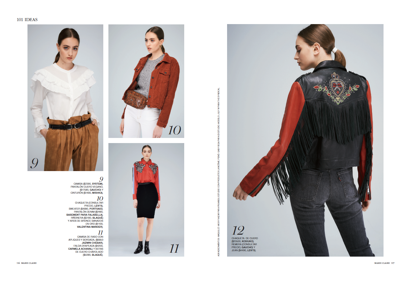 Western Trend Editorial by Marie Clarie Featuring Julia W.    - Argentina