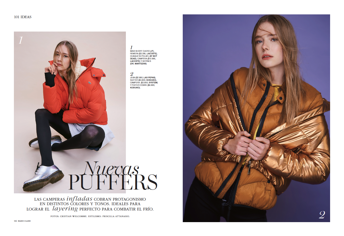 Winter Trend With Natalia K and Marie Claire Argentina.