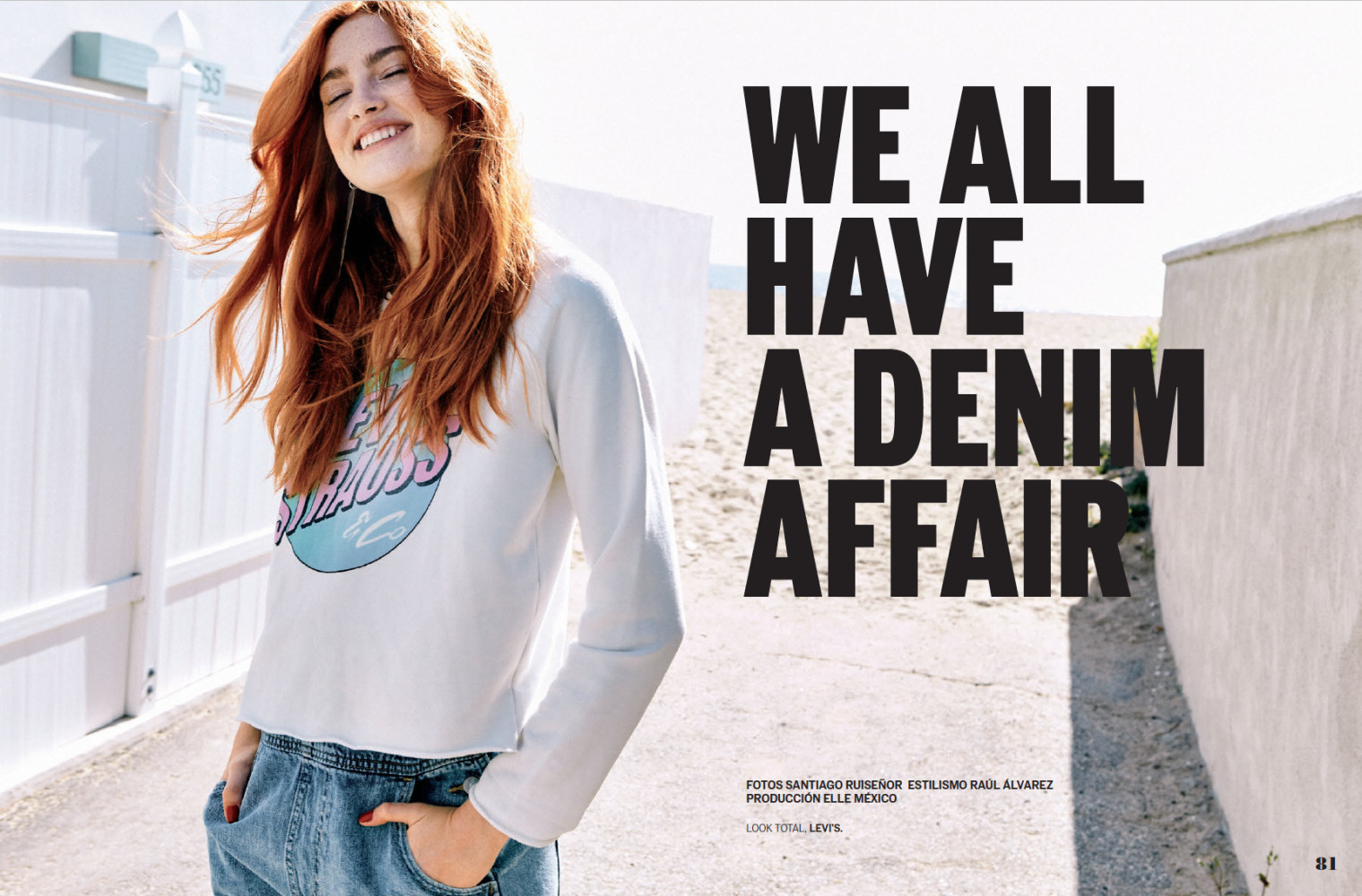 We All Have a Denim Affair with Askyla Delaplaine in ELLE MEXICO