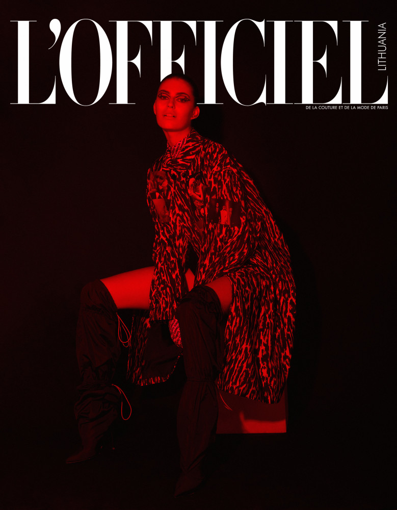 Simona in The Cover of L OFFICIEL Lithuania.